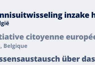 Workshop Initiative citoyenne européenne