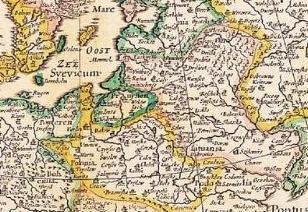 Carte de l'Europe par Nicolas Visscher circa 1658